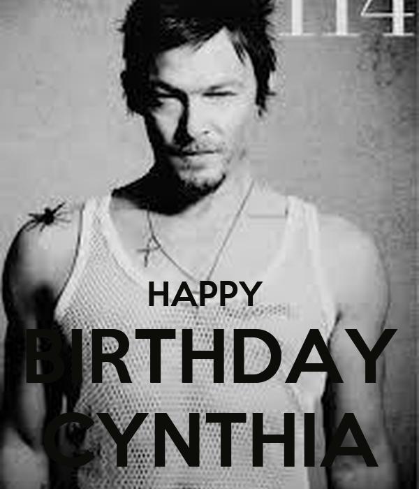 HAPPY  BIRTHDAY CYNTHIA