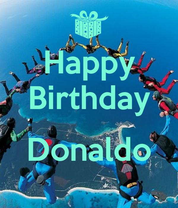 Happy Birthday  Donaldo