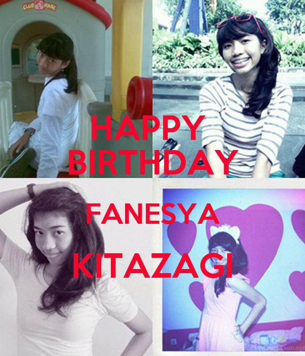 HAPPY  BIRTHDAY FANESYA KITAZAGI