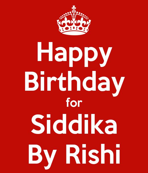 Happy Birthday for Siddika By Rishi