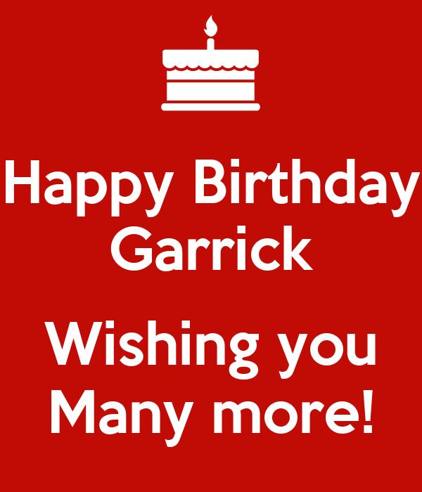 Happy Birthday Garrick Wishing You Many More Poster Happy Birthday Wish You Many More