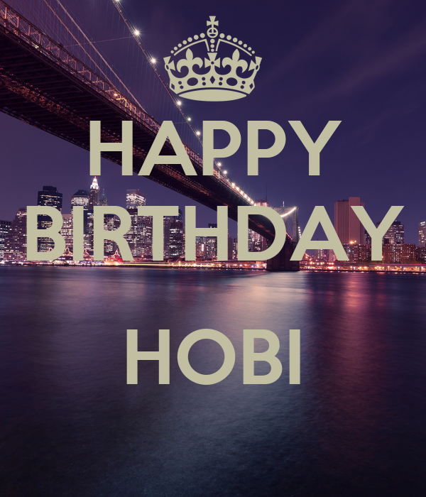 HAPPY BIRTHDAY  HOBI
