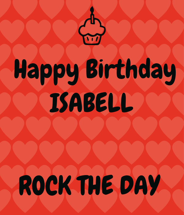 Happy Birthday ISABELL   ROCK THE DAY