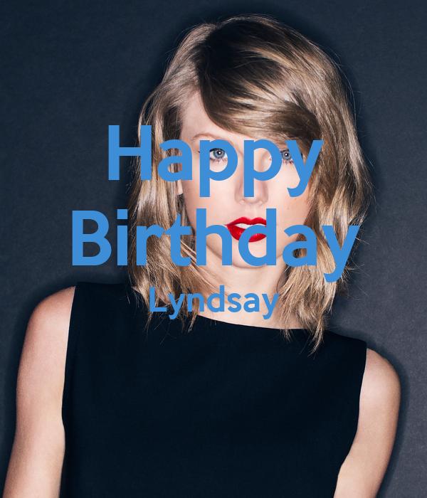 Happy Birthday Lyndsay