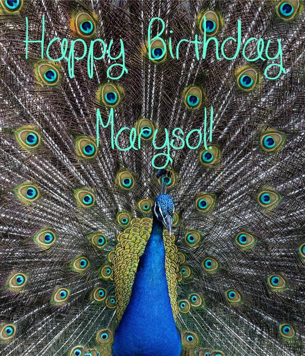 Happy Birthday Marysol!