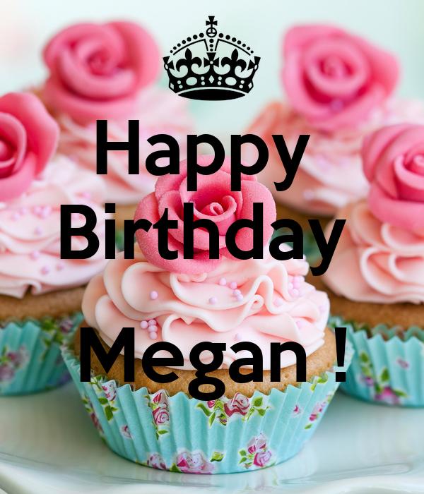 Happy Birthday Megan Poster Amber Keep Calm O Matic