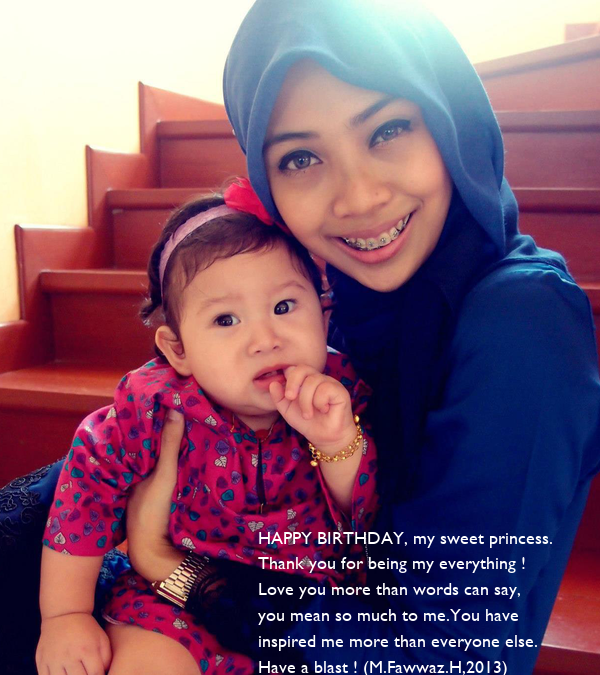 I Love You More Than Quotes: HAPPY BIRTHDAY, My Sweet Princess. Thank You For Being My