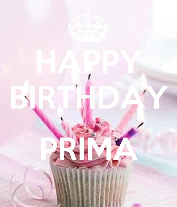 HAPPY BIRTHDAY PRIMA Poster