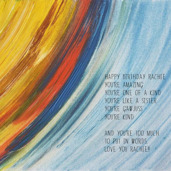 You Re Amazing Words: Happy Birthday Rachie