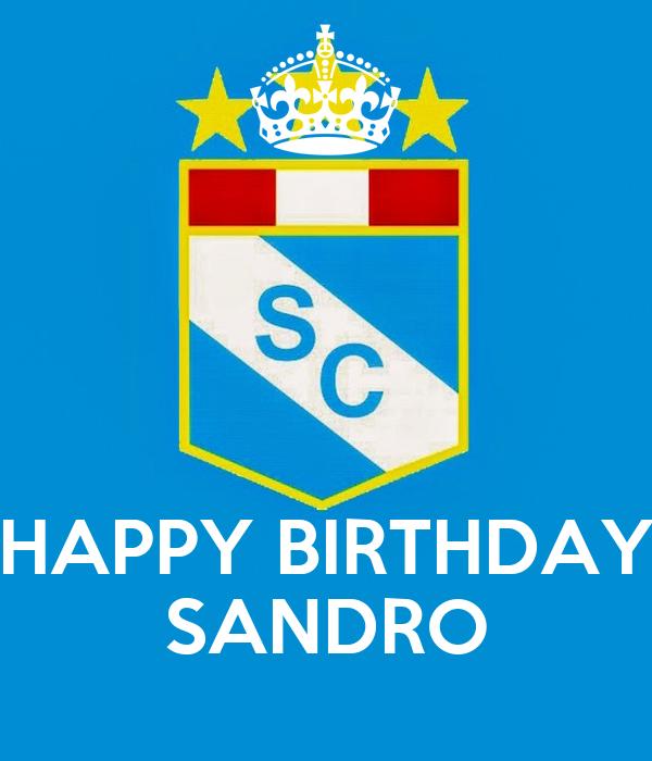 HAPPY BIRTHDAY SANDRO
