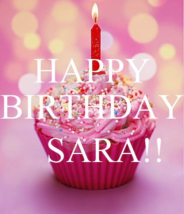 Happy Birthday Sara Cake Image