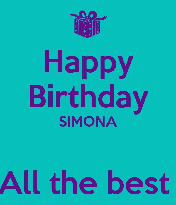 Happy Birthday SIMONA  All the best