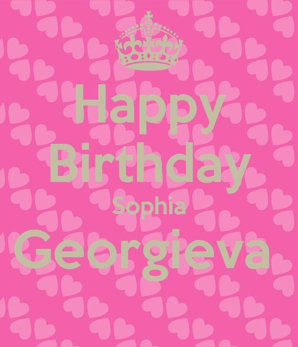 Happy Birthday Sophia Georgieva
