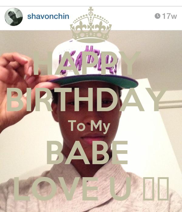 HAPPY  BIRTHDAY  To My  BABE  LOVE U ❤️