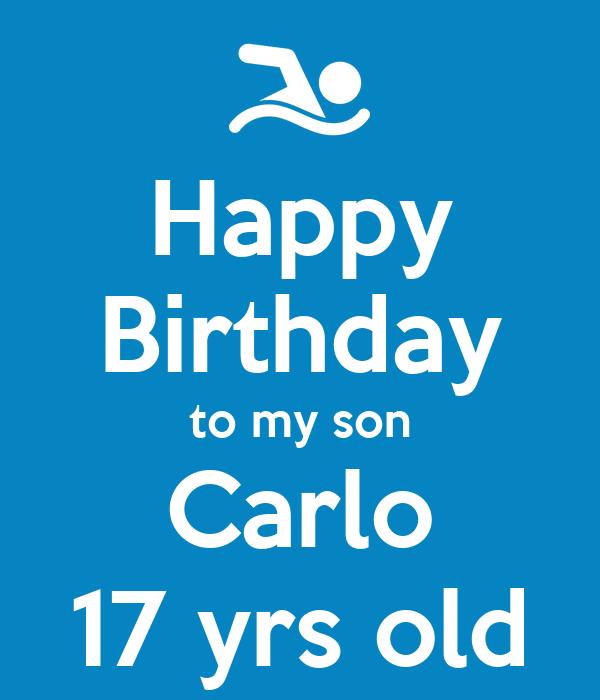 Happy birthday to my son carlo 17 yrs old poster kenji keep calm o