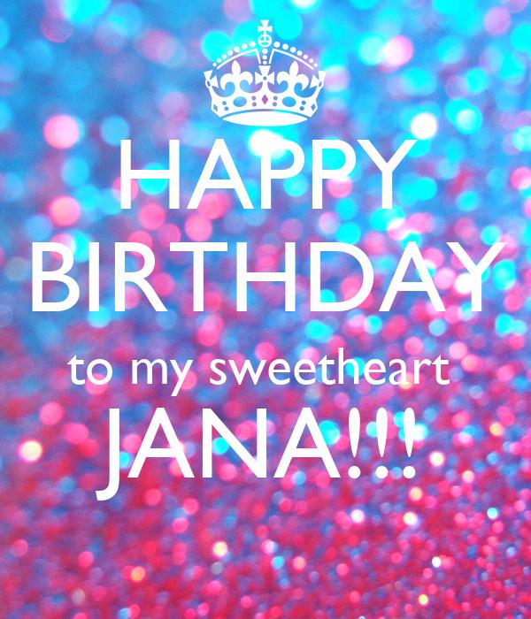Happy Birthday To My Sweetheart Jana Poster Jayanta Keep Calm