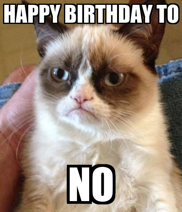HAPPY BIRTHDAY TO NO