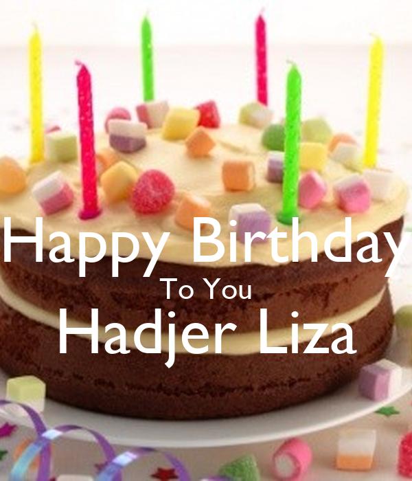 HAPPY BIRTHDAY LIZA STAY GORGEOUS Poster SALI Keep Calm O