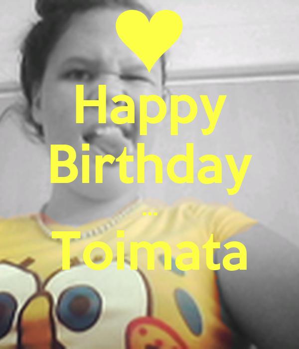 Happy Birthday ... Toimata