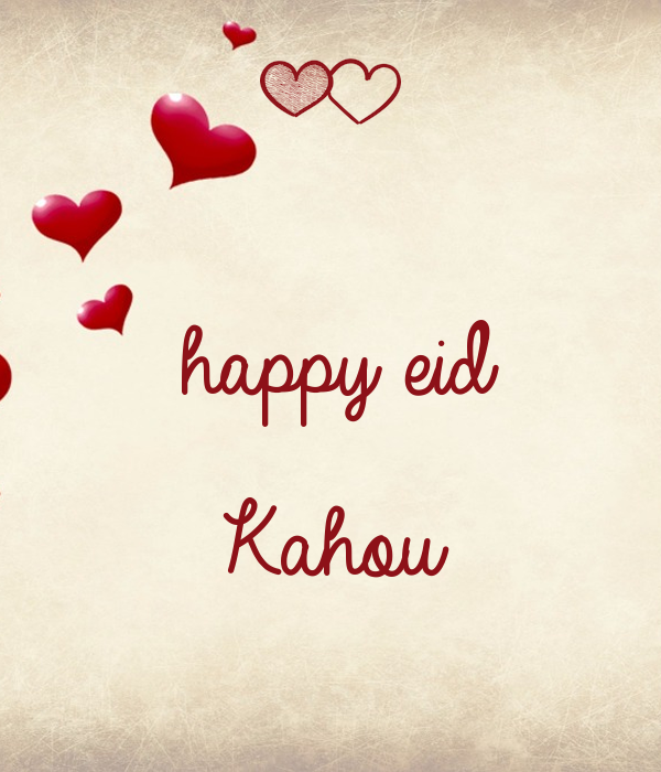 happy eid  Kahou