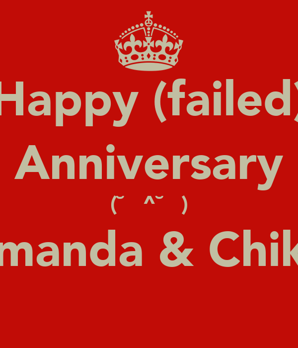 Happy (failed) Anniversary (˘̩̩̩^˘̩̩̩) Firmanda & Chikita