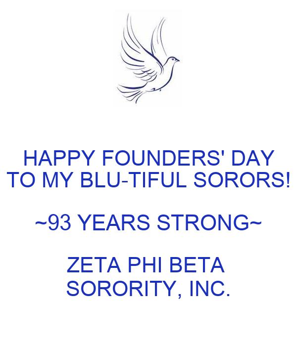 HAPPY FOUNDERS' DAY TO MY BLU-TIFUL SORORS! ~93 YEARS STRONG~ ZETA PHI BETA  SORORITY, INC.