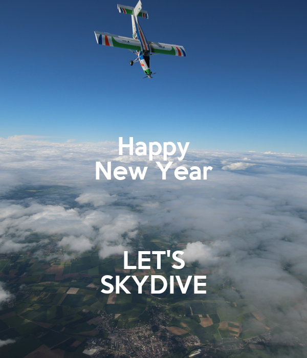 Happy New Year  LET'S SKYDIVE