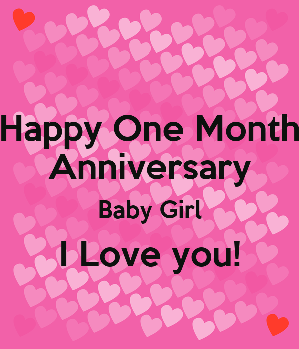 Happy One Month Anniversary Baby Girl I Love You Poster Radamel