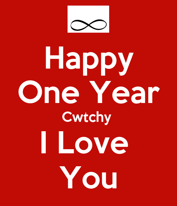 Happy One Year Cwtchy  I Love  You