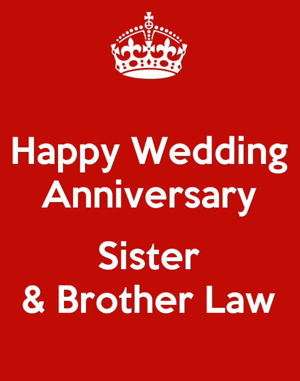 Happy wedding anniversary sister brother law poster