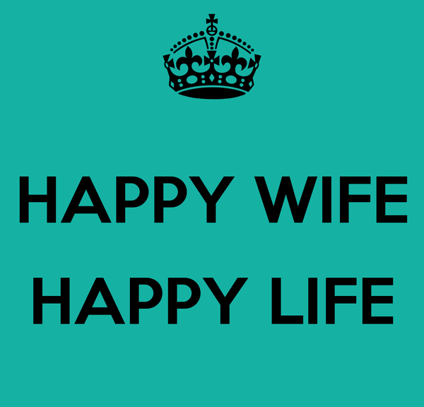 HAPPY WIFE HAPPY LIFE Poster | clkelly33 | Keep Calm-o-Matic
