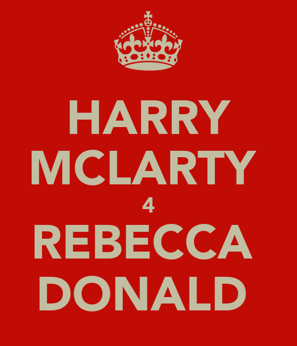 HARRY MCLARTY  4 REBECCA  DONALD