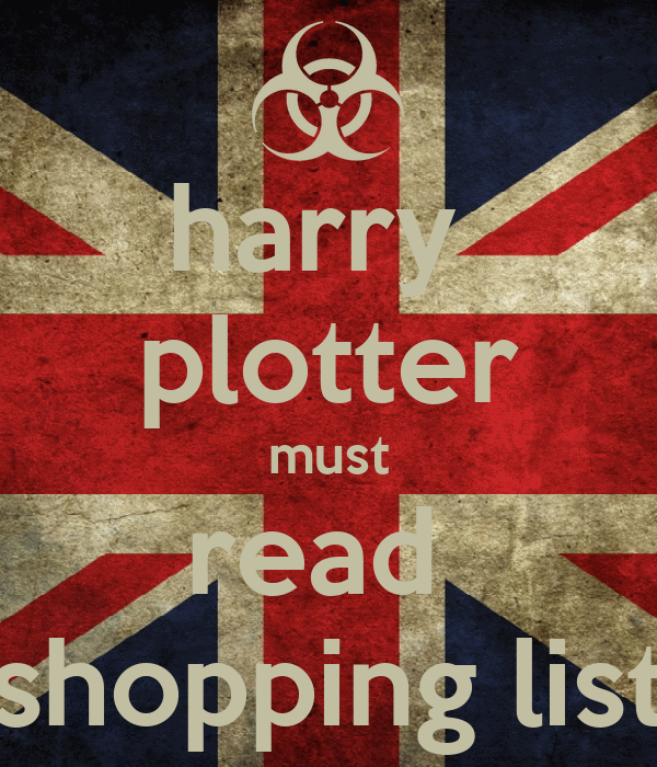 harry  plotter must read  shopping list