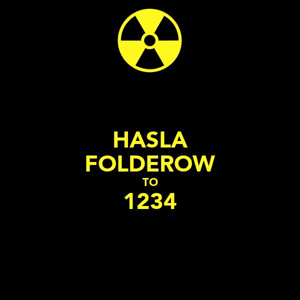 HASLA FOLDEROW TO 1234