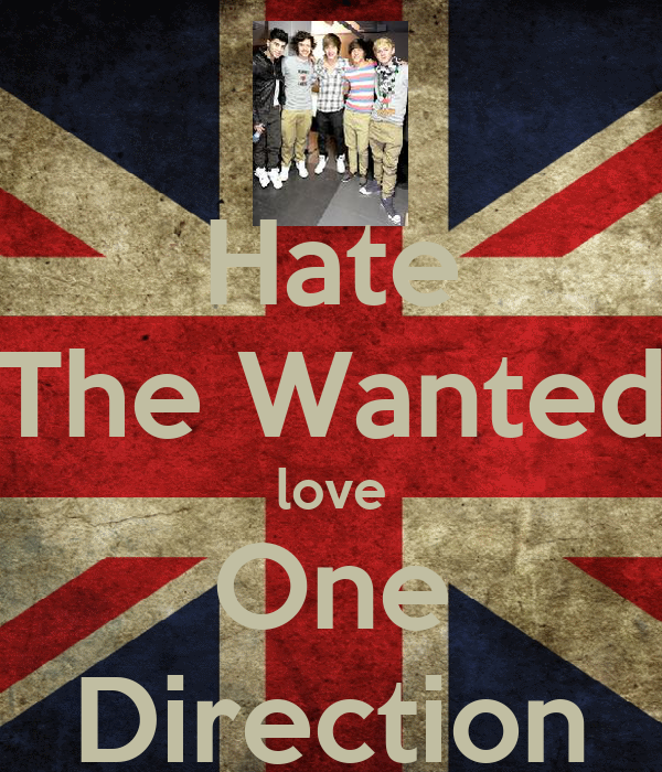Hate The Wanted love One Direction