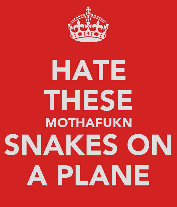 HATE THESE MOTHAFUKN SNAKES ON A PLANE