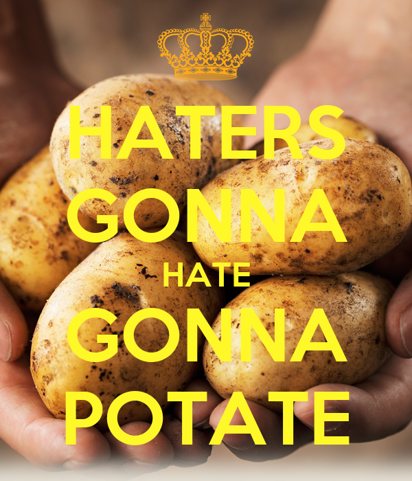 HATERS GONNA HATE GONNA POTATE