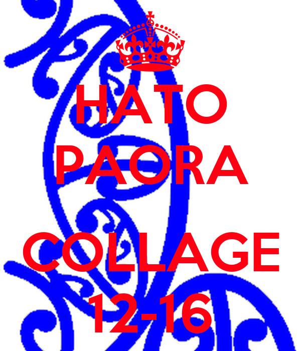 HATO PAORA  COLLAGE 12-16