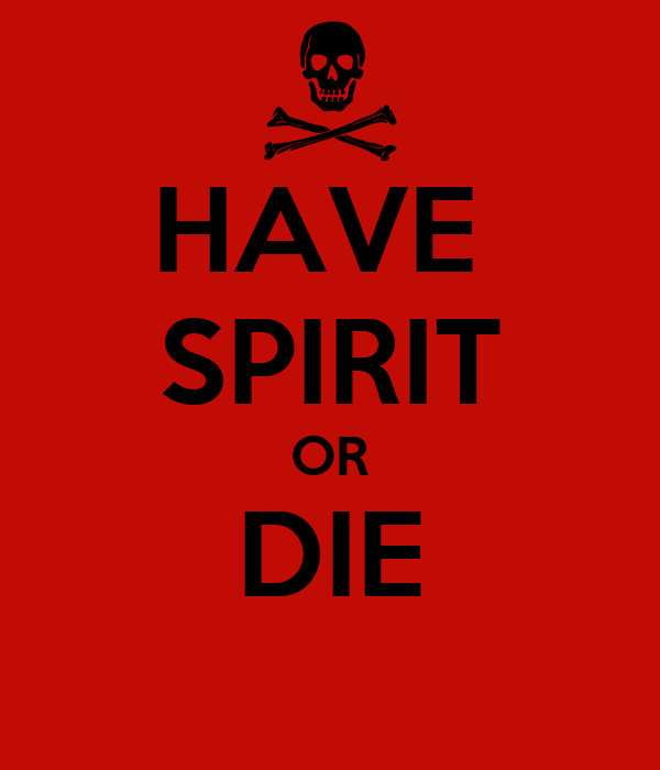HAVE  SPIRIT OR DIE