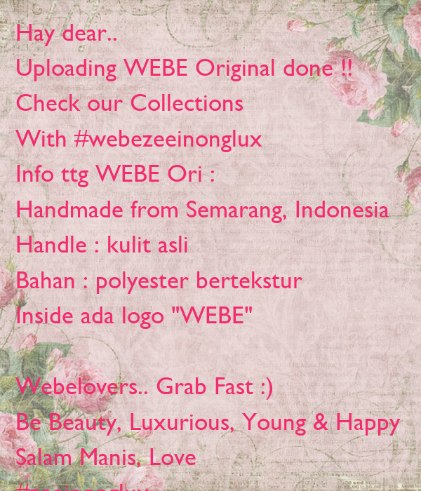 Hay dear..