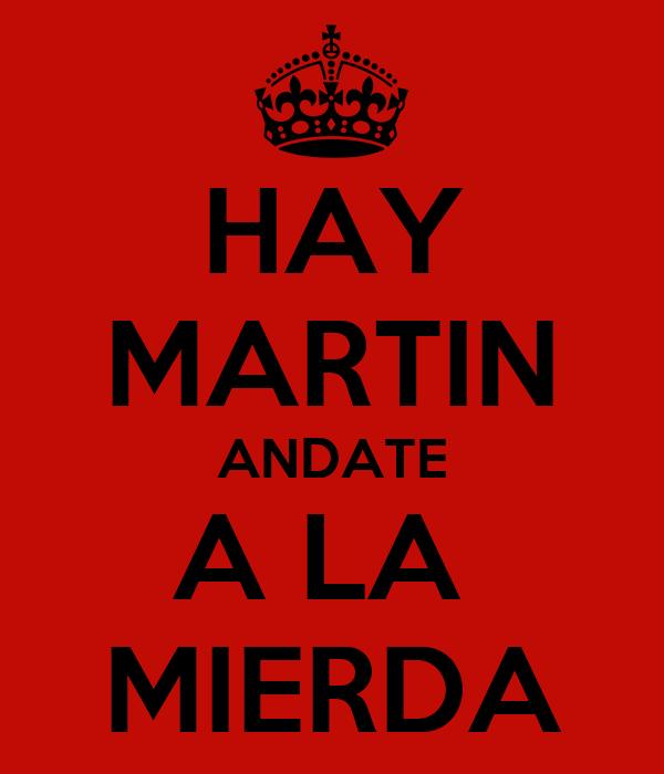 HAY MARTIN ANDATE A LA  MIERDA