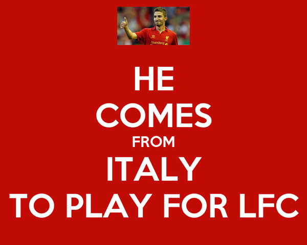 HE COMES FROM ITALY TO PLAY FOR LFC