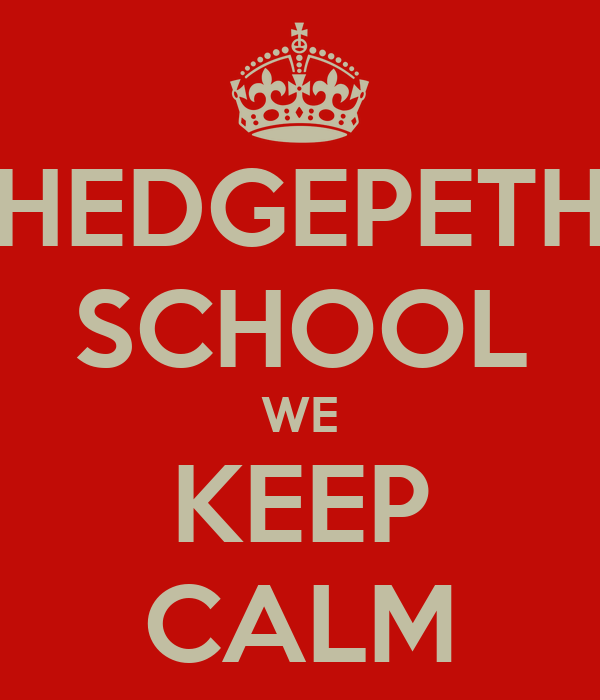 HEDGEPETH SCHOOL WE KEEP CALM