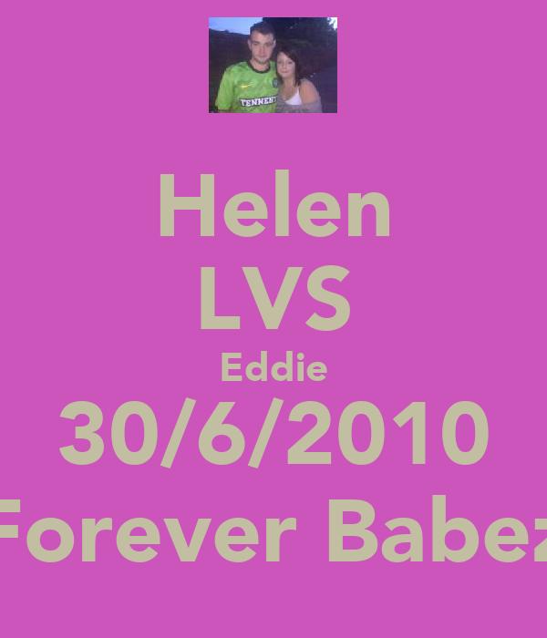 Helen LVS Eddie 30/6/2010 Forever Babez