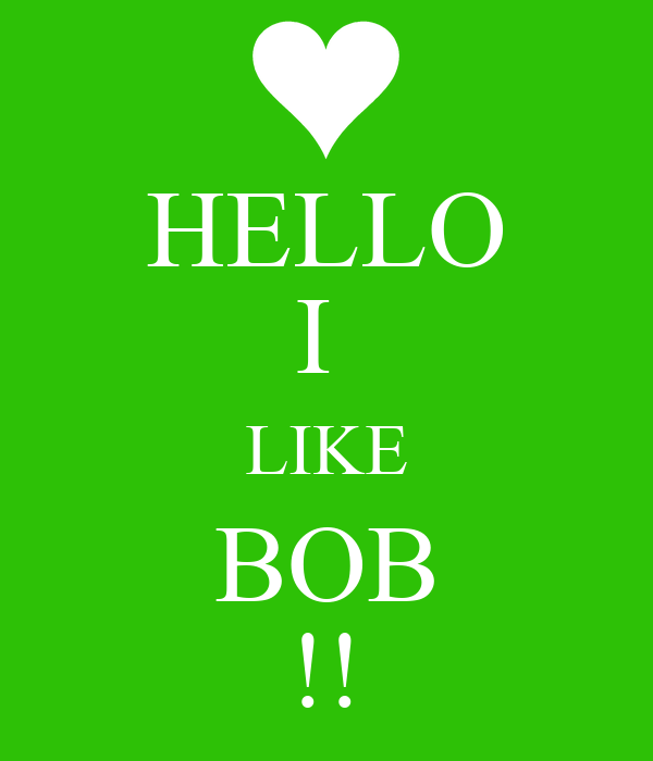 HELLO I  LIKE BOB !!