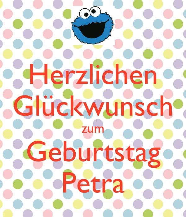 Herzlichen Glückwunsch zum Geburtstag Petra