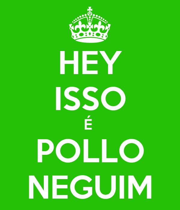 HEY  ISSO  É  POLLO NEGUIM