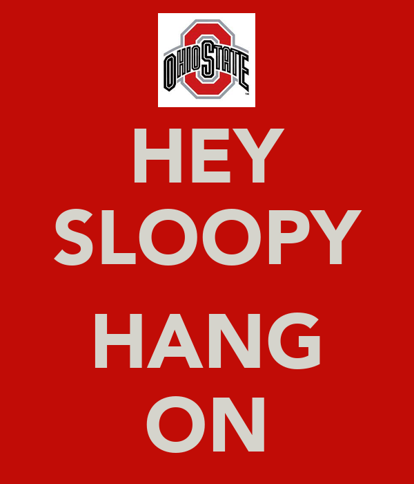 HEY SLOOPY  HANG ON