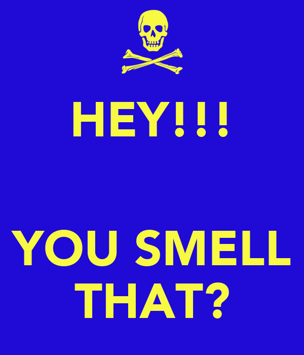 HEY!!!   YOU SMELL THAT?