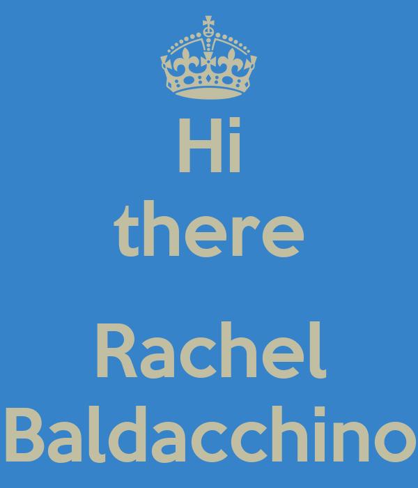 Hi there  Rachel Baldacchino